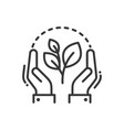 plant of life- modern single line icon vector image vector image