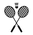 Playing badminton racket vector image