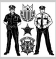 police man - set officer isolated vector image vector image