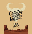 poster or banner for country music festival vector image vector image