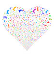 pound sterling fireworks heart vector image vector image