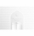 ramadan backgrounds ramadan mubarak with kaaba vector image vector image