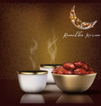 ramadhan kareem iftar party celebration vector image vector image
