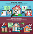 real estate composition set vector image vector image