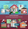 real estate composition set vector image