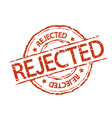 rejected stamp sign vector image