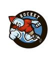 rocket sport mascot logo vector image
