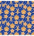 Seamless Pattern with Gingerbread in Flat vector image