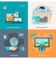 Set Of 2x2 VR Images vector image vector image