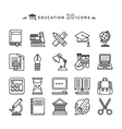 Set of Lines Education Icons on White Background vector image vector image