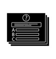 set questions glyph icon vector image