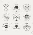 smoking pipes logo set vector image vector image