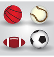 sport balls icon set eps10 vector image vector image