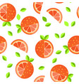 tiled seamless pattern of cartoon orange slices in vector image vector image