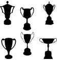 trophies silhouettes collection vector image