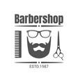 vintage barbershop badge or logo vector image vector image
