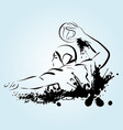 Water polo player vector image vector image