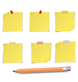 Notes and pensil vector image