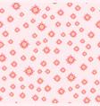 beautiful tropical flower seamless pattern design vector image