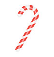 christmas candy cane flat icon new year vector image
