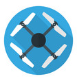drone or quadrocopter flat circle icon isolated vector image