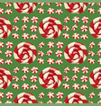 christmas striped peppermint candies food and vector image