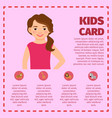 infographic with girl and zoo animals vector image