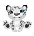 Toy black-and-white leopard cartoon isolated vector image
