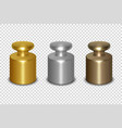 3d realistic metal golden silver bronze vector image vector image