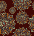 Abstract seamless pattern with rosettes vector image vector image