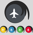 Airplane Plane Travel Flight icon sign Symbol on vector image