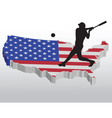 american baseball player vector image
