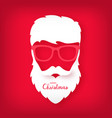avatar santa claus with a beautiful hairdo vector image vector image