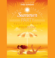 Beach party poster vector image vector image