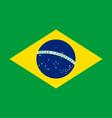 brazil flag official proportion vector image