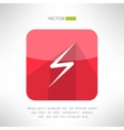 Bright lightning icon made in clean and simple vector image vector image