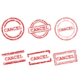 Cancel stamps vector image