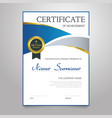 certificate - vertical elegant document vector image vector image
