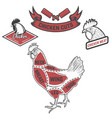 chicken butcher diagram design element for poster vector image