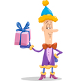 christmas elf cartoon vector image vector image