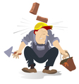 Construction industry accident vector image