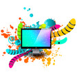 creative template multicolor background abstract vector image vector image
