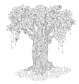 Cute fairy tale tree from magic forest vector image vector image