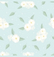 cute flat style tiny white cosmos flower on blue vector image