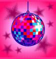 disco ball comic book style vector image vector image