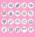 event agency wedding organization line icon vector image vector image