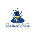 fashion store logo design template clothes shop vector image vector image