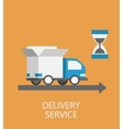 Flat style delivery service concept vector image