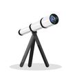 flat style of telescope vector image