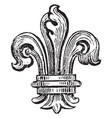 fleur-de-lis is the bearing of the bourbons of vector image